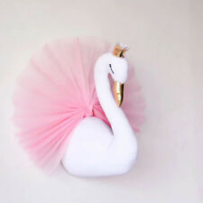 3D Wall Hanging Crown Swan Doll Stuffed Toys Wall Mounted Decor Kids Xmas Gift