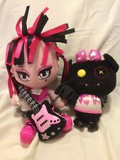 "Monster High Draculara 10"" plush doll and 7"" Count Fabulous pet"