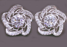 4.60ct D-h.-Color vvs1 WHITE GIFT GORGEOUS .925 Sterling SILVER EARRINGS