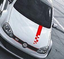 Autoaufkleber Race Tuning Rallystreifen Raceflag Tuning Styling 100 x 10 cm rot