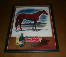 ROLLING ROCK 1963 KENTUCKY DERBY CHATEAUGAY WINNER FRAMED 11x14