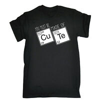 Made Of Cute Periodic Table T-SHIRT Science Geek Nerd Top Funny birthday gift