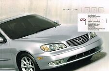 2002 INFINITI I35 Brochure / Catalog with Color Chart: I-35, Sport