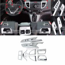 Chrome Interior Air Duct Window Switch Audio Molding C388 for HONDA 2012-16 CR-V