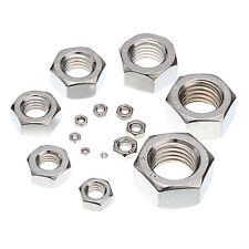 HEXAGON FULL NUTS A2/70 Stainless Steel M3 M4 M5 M6 M8 M10 M12 M14 M16 M18 M20