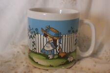 Cup Mug Tasse à café Girl Blue Hat Clown 1969 Joan Walsh Anglund