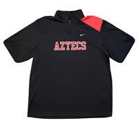Nike Men's L San Diego State Aztecs Dri Fit 1/4 Zip Pull Over Black Shirt 🚚FREE