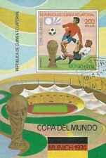 Timbre Sports Football Guinée équatoriale BF520 o réf. Stampworld lot 29520