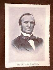 Deputato nel 1° Parlamento d'Italia del 1848 Ingegnere Severino Grattoni