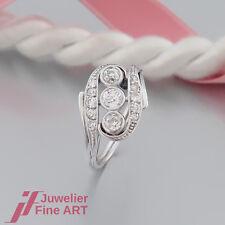 RING ANTIK mit 3 Diamanten-Altschliff ges.ca. 0,50ct und 10 Diamanten ca. 0,14ct