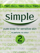 Simple Pure Soap for Sensitive Skin 2 Bars 2x125g