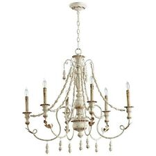 French Country Vintage Lyon Six Light Chandelier ~  06576 Cyan Design