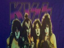 KISS Creatures of the Night / Lick it Up Make-Up Alt T-Shirt LRG Purple or Black