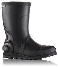 Sorel Joan Rain Boots Short Womens Rubber Boots US Sizes 7-10 Black or Black