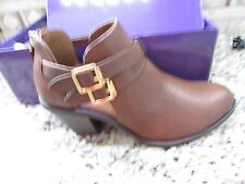 NEW MADDEN GIRL GENUS COGNAC SHOOTIES BOOTIES BOOTS WOMENS 7.5  ANKLE BOOTS