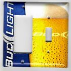 Light Switch Plate Switchplate & Outlet Covers~ MAN CAVE BUD LIGHT BEER IN GLASS