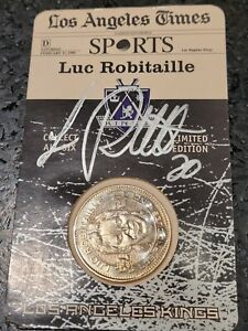 Luc Robitaille Autographed Los Angeles Kings HOF Limited Edition Medal-Coin 1999