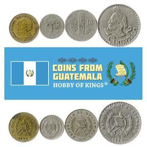 Set 4 Coins Guatemala 1 5 10 25 Centavos 1971 - 1977
