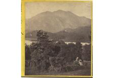 Landscape Lake + Mountains, Loch Achray + Ben Venue, Stereoview By G.W. Wilson