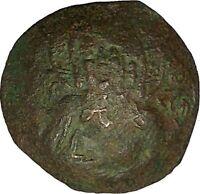 ALEXIUS III 1195AD Saint Constantine Jesus Christ Ancient Byzantine Coin i40320