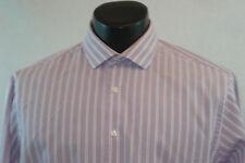 CALVIN KLEIN Dress Shirt - Light Purple with White Stripes