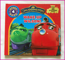 CHUGGINGTON BOOK - WAKE UP WILSON  Story 4 - HARDCOVER over 40 Stickers - NEW