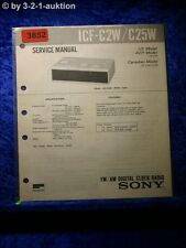 Sony Service Manual ICF C2W /C25W Digital Clock Radio (#3852)