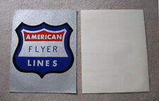 """AMERICAN FLYER COLLECTOR  VINAL GLITTER SIGN 11X14"""""""