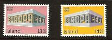 ICELAND # 406-407 Mint EUROPA 1969