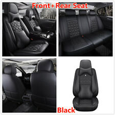Deluxe Edition Car Front+Rear Black PU Leather Full Surround Seat Covers Cushion