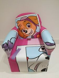 Children's Pink Paw Patrol Character Good Quality Kids Arm Chair Seat Brand New