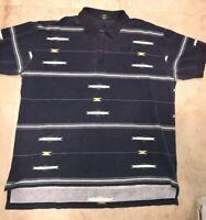 Mens Orvis Aztec Tribal Southwest Print S/S Button Up Shirt Fishing Brand XL