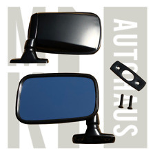 Vw Mk1 Rabbit Scirocco Cabriolet Satin Black Flag Mirrors - Pair - All Stainless