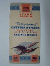 WWII Era United States War Savings Bonds 25 Cent Stamp Album Booklet Unused 1942