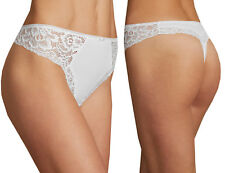 Ladies Marks & Spencer M&S Collection White Lace Side Microfibre Thong 6-24