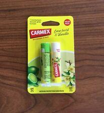 Carmex Lime Twist & Vanilla Stick Moisturising Lip Balm 4.25g SPF25 - Twin Pack