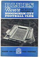 Birmingham City v Blackpool 1961/2