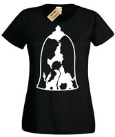 Belle and the Beast Womens T-Shirt S-2XL beauty inspired bell gift ladies