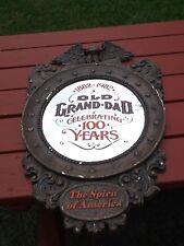 1982 Centennial Mirror Old Grand-Dad Whiskey Styrofoam Frame Eagle Spirit Americ
