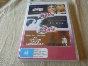 Grease / Ghost / An Office And A Gentleman (DVD, 2007, 3-Disc Set) Region 4