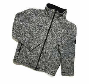 Men`s MAMMUT Sweater Iceland Jacket Fleece Full Zip Wool Gray Size S