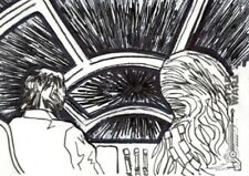 Star Wars ANH Black & White Sketch Card, 'Jump To Light Speed', Topps