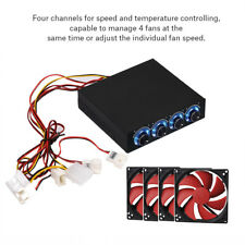 4 Channel Computer CPU Fan Speed Controller LED Temperature Regulator for PC BT