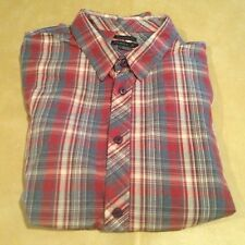 NWT Oneill Tailored Fit Casbar Red Long Sleeve Collared Men Dress Shirt Large