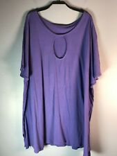 Keyhole Top  Purple  Organic Cotton Knit Blue Fish Red Moon Clothing