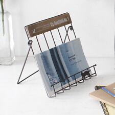 Portable book stand holder antique rack reading magazine living bath Cafe Study