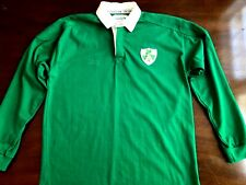 Lansdowne Youth Green LONG SLEEVE IRISH RUGBY POLO Shirt St Patrick's Day Clover