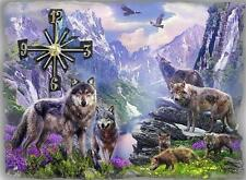 "Wolf #S18 Wolves Spiritual Kitchen Office Bathroom Bar Bedroom 8/"" WALL CLOCK"