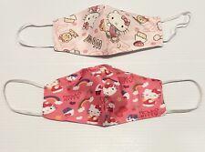 2 Pc Face Mask Fabric - Hello Kitty  print Women Size