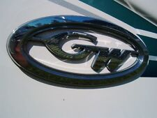GRADY WHITE OEM CHROME HULL OVAL NAMEPLATE - NEW STYLE 2015 - TAX FREE!!!